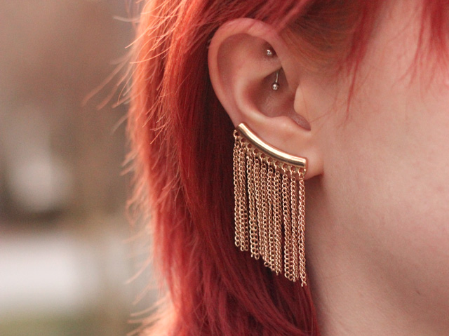 Ear Cuff and Rook Piercing